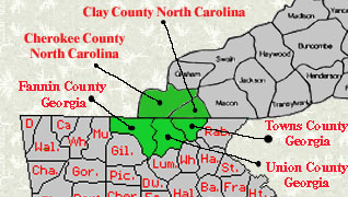 Map of area we represent